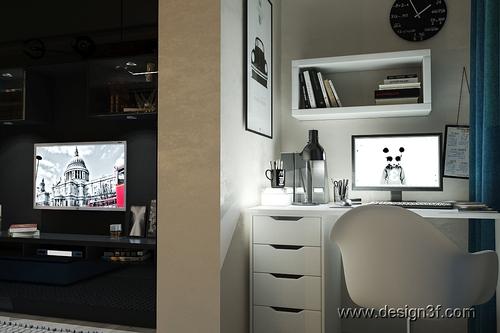 Фото для Дизайн интерьер гостиной-студии