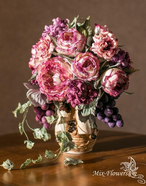 Фото для Букет шелковых цветов