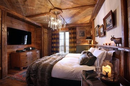 Фото для Дерево в интерьере спальни