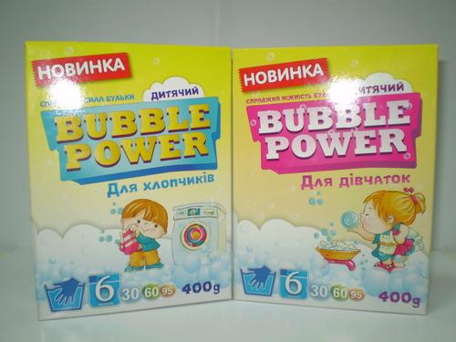 Фото для Bubble Power Baby пральний порошок для прання дитячих речей, 400г. опт