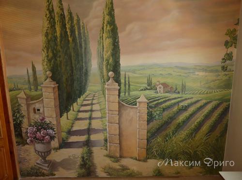 Фото для Роспись стены. Итальянские мотивы.